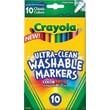 Crayola® Ultra-Clean Markers, Fine Line, 10/Pack