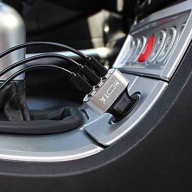 MOTA High-Speed 3-Port USB Car Charger for Tablets and Smartphones