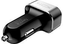 MOTA High-Speed 3-Port USB Car Charger for Tablets and Smartphones, Black or White