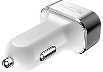 MOTA High-Speed 3-Port USB Car Charger for Tablets and Smartphones, White