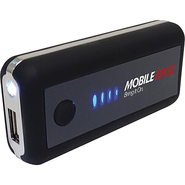 Mobile Edge UrgentPower 5200mAh Battery for Tablet, iPhone, USB Devices, Black