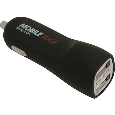Mobile Edge UrgentPower Auto Charger Tablets, Smartphones, USB Devices, Black