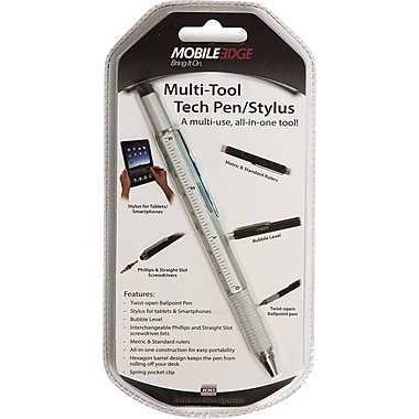 Mobile Edge - Stylet à outils multiples, argenté