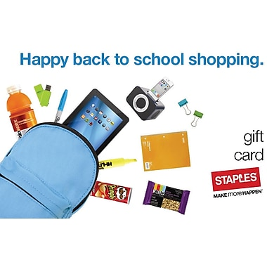 Staples® Back to School Shopping Gift Cards