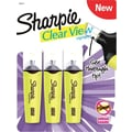Sharpie Clear View Highlighters, Chisel Tip, Yellow, 3/Pack