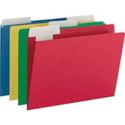 Smead FlexiFolder Heavyweight Folder with Movable Tab, Letter, , 1/3 Tab Cut,  14 pt., Paper, Assorted