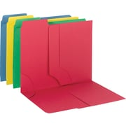 "Smead 3-in-1 SuperTab Section Folder, Letter, , 8.50"" x 11"" Sheet Size, 3 Pockets, 1/3 Tab Cut, 11 pt., Assorted Colors"
