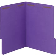 Smead WaterShed/CutLess Fastener Folders, Letter,  1/3 Tab Cut, 11 pt., Purple, 50/ Bx