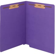 Smead WaterShed/CutLess End Tab Fastener Folders, Letter,  11 pt., Purple, 50/ Bx