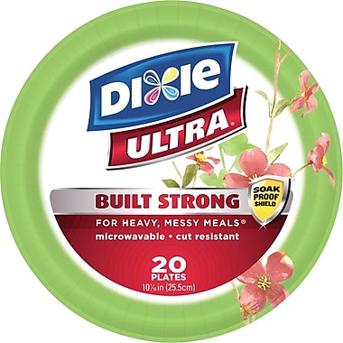 Dixie Ultra 10 1/16in. Paper Plates, Holiday Design, 22/Pack