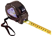 Stalo Contractor SAE and Metric Tape Measure with LED, Black