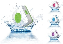 URGE Basics Aquacube Water Resistant Shower Speakers with Suction Cup