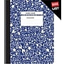 Staples® Composition Notebook, Wide Ruled, Blue, 9-3/4 x