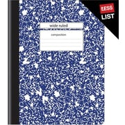Staples® Composition Notebook, Wide Ruled, Blue, 9-3/4 x 7-1/2