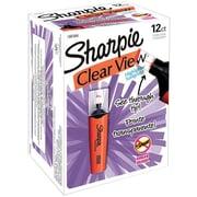 Sharpie Clear View Highlighters, Chisel Tip, Orange, Dozen