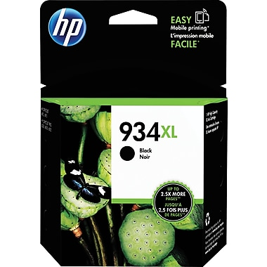 HP 934XL Black Ink Cartridge (C2P23AN#140), High Yield