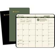 AT-A-GLANCE® Recycled Two Year Monthly Planner, 3 1/2 x 6 1/8, 2015