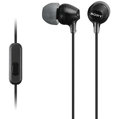 Sony® – Casque d'écoute MDREX15APB pour téléphone intelligent, noir