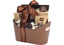 Godiva Faux Leather Holiday Gift Basket