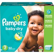 Pampers® Baby Dry, Size 3, 160/Case