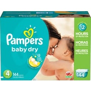 Pampers® Baby Dry, Size 4, 144/Case