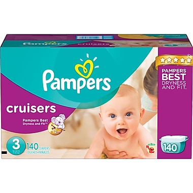 Pampers Cruisers, Size 3, 140/Case
