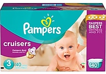 Pampers® Cruisers, Size 3, 140/Case