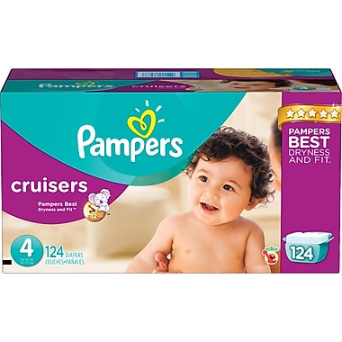 Pampers® Cruisers, Size 4, 124/Case