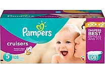 Pampers® Cruisers, Size 5, 108/Case