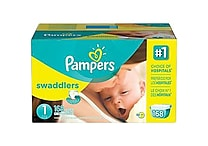 Pampers® Swaddlers Diapers, Size 1, 168/Case