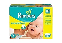 Pampers® Swaddlers Diapers, Size 2, 148/Case