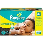 Pampers® Swaddlers Diapers, Size 3, 136/Case