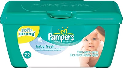 Pampers Wipes Tubs Baby Fresh 72 Tub
