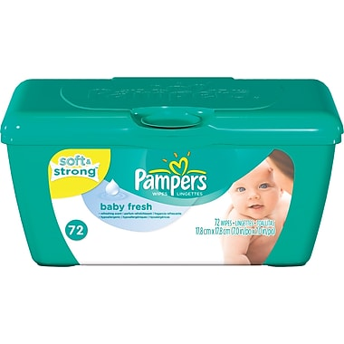 Pampers Wipes Tubs Baby Fresh 72/Tub