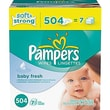 Pampers Wipes Baby Fresh Refill, 504/case