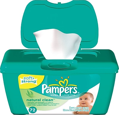 Pampers Wipes Natural Clean Tub 72 Tub