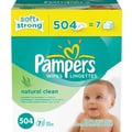 Pampers Wipes Natural Clean Refill 504/case