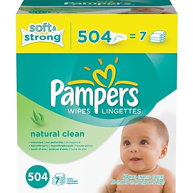 Pampers® Wipes Natural Clean Refill 504/case
