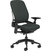 Steelcase Leap, in Cogent Connect Graphite, Black Base, Black Frame, Adjustable Arms, Carpet Casters, Chair