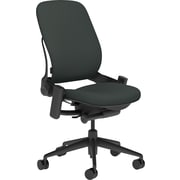 Steelcase Leap, in Cogent Connect Graphite, Black Base, Black Frame, Armless, Carpet Casters, Chair