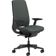 Steelcase Amia, in Cogent Connect Graphite, Black Base, Black Frame, Adjustable Arms, Hard Floor Casters, Chair