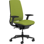 Steelcase Amia, in Cogent Connect Wasabi, Black Base, Black Frame, Adjustable Arms, Hard Floor Casters, Chair