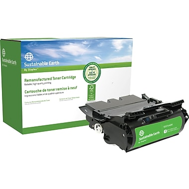 Sustainable Earth by Staples® Reman Black Toner High Yield, Lexmark T640 (SEBT640R)