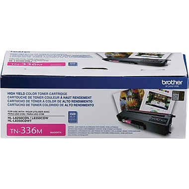 Brother TN336M Magenta Toner Cartridge, High Yield