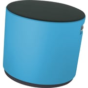 Steelcase Buoy by turnstone, Stool in Cogent Connect Graphite with Picasso Blue Base, Stool