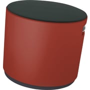 Steelcase Buoy by turnstone, Stool in Cogent Connect Graphite with Chili Red Base Buzz2 Top, Stool