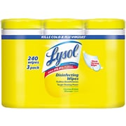 Lysol Disinfecting Wipes, 7 x 8, Lemon And Lime Blossom, 80/Canister, 6/Pack