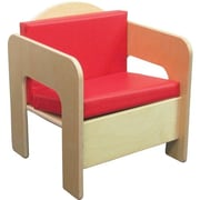 "Wood Designs™ 20""(H) Plywood Padded Chair, Red Cushion"