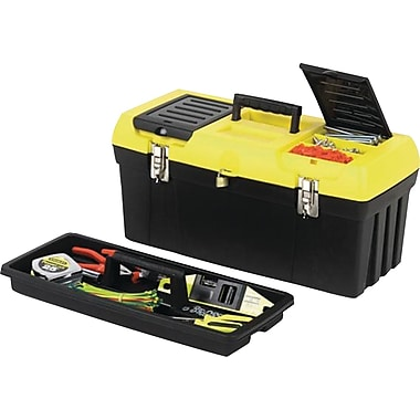 STANLEY® 019151M Series 2000 Toolbox With Tray, Black