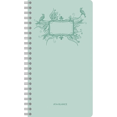 "AT-A-GLANCE® Poetica Weekly/Monthly Planner, 3 3/4"" x 6 3/4"", 2015"